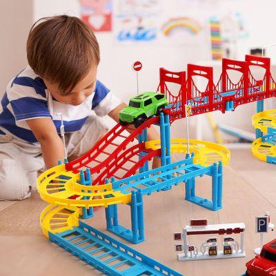 【送電池】托馬斯軌道火車套裝兒童玩具電動軌道車拼裝益智玩具汽車生日禮物組裝玩具