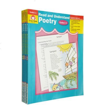 英文原版 Read and Understand Poetry 加州教材4冊 閱讀理解和詩歌 Evan Moor 附