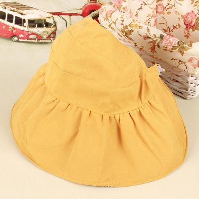 抹炫(MOXUAN)儿童渔夫帽夏天遮阳 韩版潮小孩女童薄款韩国亲子防晒帽儿童帽子