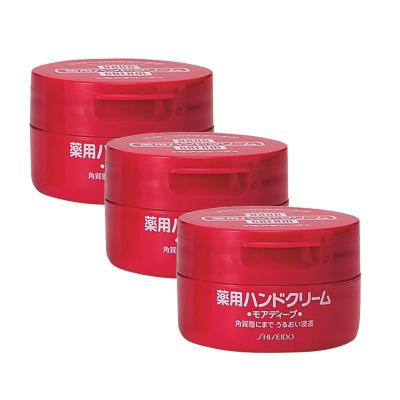3盒|資生堂(SHISEIDO) HANDCREAM 美潤 藥用美肌護手霜 圓罐裝 100g