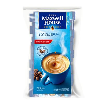 麥斯威爾三合一速溶咖啡 3in1經典原味1300g(13g*100條)袋裝