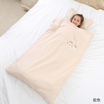 Bigan寶寶防踢被純棉抱被秋冬嬰幼兒春秋小孩2歲5歲一歲兩歲四季嬰兒冬季加厚兒童睡袋