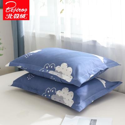北极绒(Bejirog)家纺 芦荟棉枕套枕头套双人单人学生宿舍枕芯套春秋季46x72cm一对装