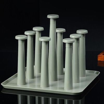 廚房創意放杯子的架子 收納托盤玻璃杯子廚房工具紅酒杯架 塑料瀝水杯架 居家收納水杯倒掛啤酒杯架