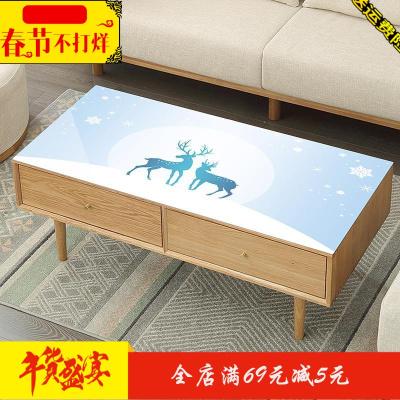 茶几垫桌垫防水防烫厚防油免洗客厅长方形欧式家用软pvc玻璃桌布