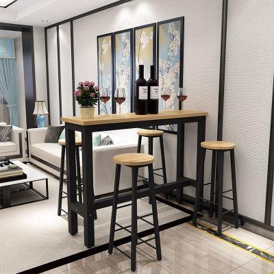 靠墻吧臺桌家用客廳小吧臺桌簡約現代酒吧桌高腳桌簡易窄桌長條桌