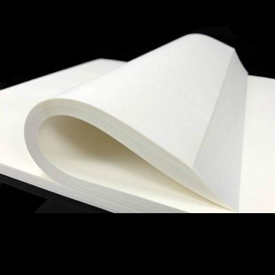 書畫用紙 半生半熟宣紙100張 生宣紙書法國畫專用作品紙熟宣紙工筆畫小楷四尺六尺對開生宣初學者05