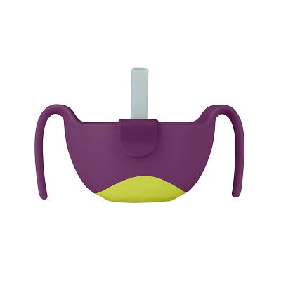 b.box 澳洲進口三合一多用輔食碗 嬰兒吸管碗寶寶零食碗-單個裝 6個月以上寶寶適用 孕嬰童餐具 紫色