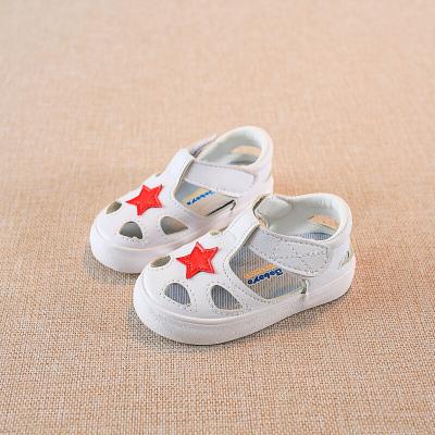 絳天新款童鞋鏤空防踢腳透氣柔軟男女一歲寶寶學步小孩子夏天舒適軟底防滑可愛涼鞋