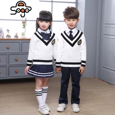 英倫學院風男女童裝韓版毛衣校服套裝小學生班服幼兒園園服老師服