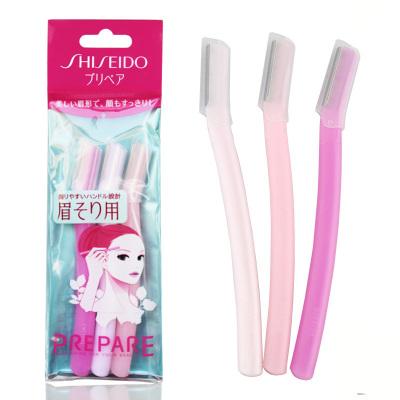 日本資生堂修眉刀女用刮眉刀剃眉刀畫眉神器初學者專業套裝 3支裝