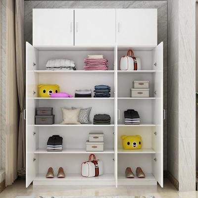 定制大容量陽臺柜儲物柜經濟型鞋柜收納置物柜衣柜飄窗柜防曬家用 上門安裝費 2門組裝