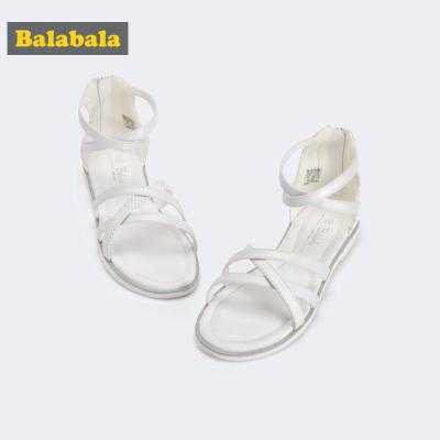 巴拉巴拉童鞋女童鞋子2019新款秋凉鞋女童鞋大童鞋甜美儿童鞋韩版