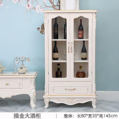 现代简约实木小酒柜欧式装饰品摆件整装玄关柜展示柜隔断柜餐边柜