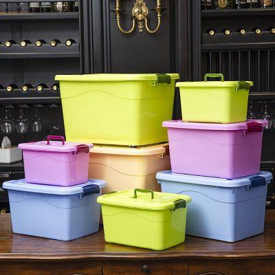 【蘇寧好貨】收納箱塑料特大號小號儲物箱衣服被子玩具收納盒車載家用