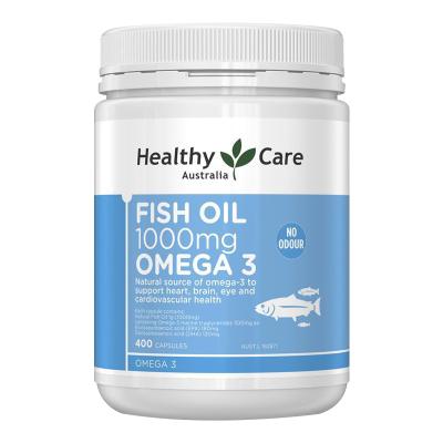【2瓶僅需148元】Healthy Care深海魚油膠囊1000mg 400粒/瓶裝 澳洲原裝進口 魚油/深海魚油