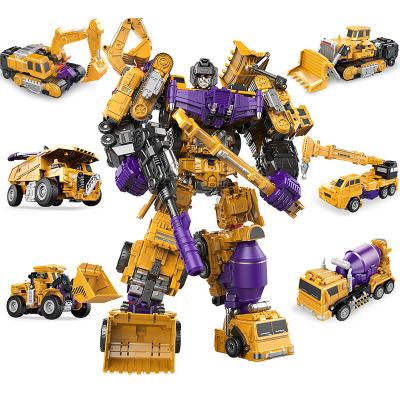 儿童玩具变形工程车大力金刚系列机器人模型六合一套装玩具送礼物