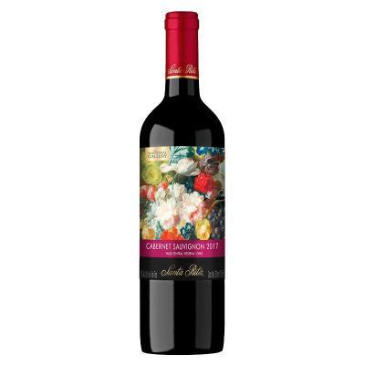 智利中央山谷產區 圣麗塔(Santa Rita)國家畫廊珍藏赤霞珠干紅葡萄酒750mL單瓶裝
