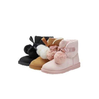 巴拉巴拉童鞋兒童短靴女童鞋子雪地靴冬季新款中大童加絨加厚