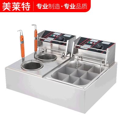 美莱特电热双缸关东煮机器商用麻辣烫锅小吃设备串串香煮面机