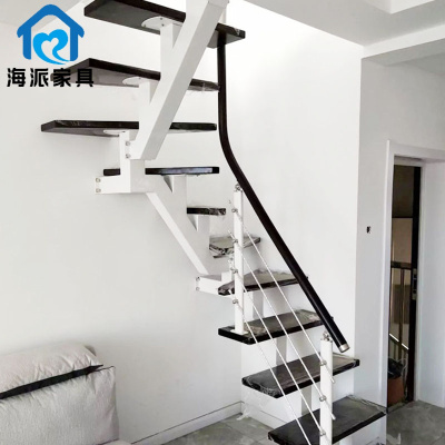 【廠家直發】斜梁樓梯鋼木室內別墅樓梯復式專用樓梯家用整體閣樓旋轉樓梯特價曉暮匠 加熱毯押金