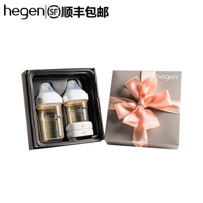 新加坡原裝進口Hegen幼兒嬰兒多功能PPSU奶瓶禮盒一大一小儲存蓋熱款禮盒寬口徑