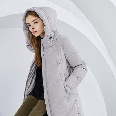 BOSIDENG брэндийн загварлаг малгайтай тамирын эмэгтэй салхины куртка B80142002 180/100A цайвар саарал8