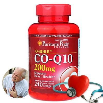 普丽普莱(puritan's-pride)辅酶Q10软胶囊呵护心脏美国原装进口增强力辅酶Q10(200mg240粒)