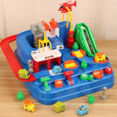 仙邦寶貝(Simbable kidz)小汽車闖關大冒險3歲以上兒童塑料玩具非充電益智男孩滑行軌道車配置2只小車