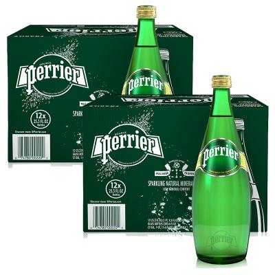 2件裝|巴黎水原味玻璃瓶 750ML*12瓶