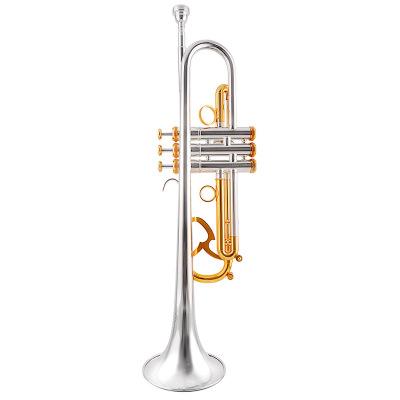 爵士朗JAZZOR 新款金银双色专业演奏型小号乐器 JZTR-800出口型