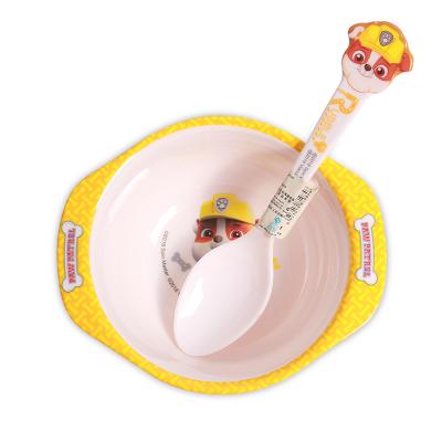 汪汪隊立大功(PAW PATROL)兒童餐具卡通碗密胺耐磨防摔單耳雙耳雙色卡通碗寶寶可愛各樣式卡通碗 兒童雙耳碗
