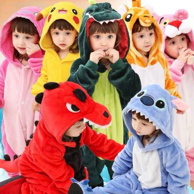 恐龍衣服動物兒童連體寶寶睡衣冬季冬款大男女童法蘭絨卡通珊瑚絨 莎丞