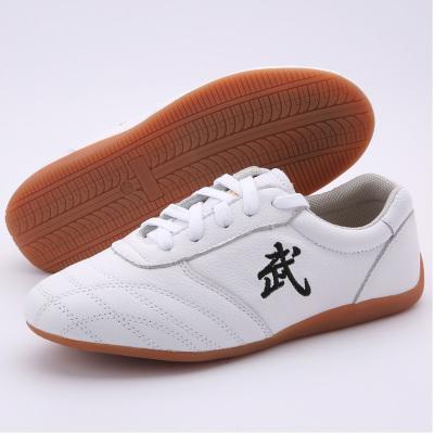 武士龍太極鞋男軟牛皮牛筋底武術鞋表演鞋功夫鞋太極拳練功鞋女秋
