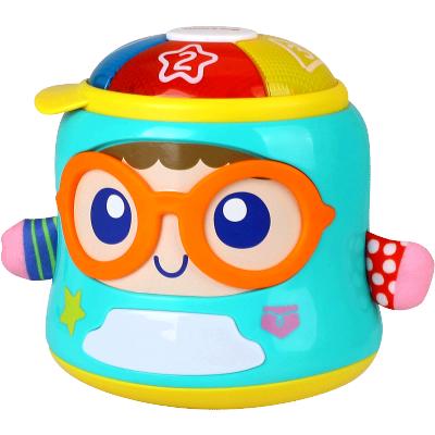匯樂玩具(HUILE TOYS)好奇娃娃 667 寶寶哄睡安撫玩偶 新生嬰兒聲光不倒翁玩具
