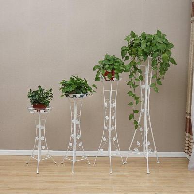 单层铁艺绿萝花架客厅落地式高花架欧式阳台室内吊兰花盆架特价