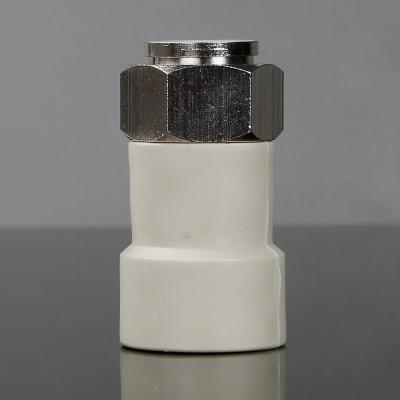 幫客材配 金潮采暖爐專用直活接白色DN25×3/4_10個/包金潮
