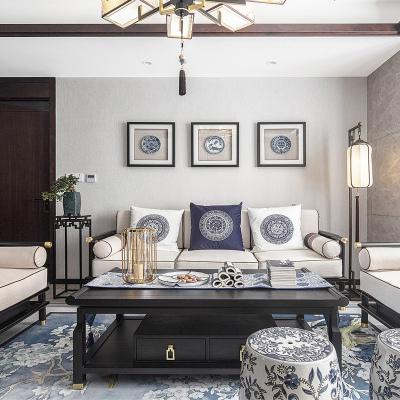 HOTBEE新中式沙发现代实木沙发组合古典禅意简约客厅会所样板房家具定制