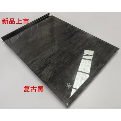 廠家直銷3C鋼化玻璃晶鋼CIAA定制櫥柜板定做廚房金剛訂做隱框 新品復古黑不