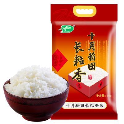 【大米分開發貨】2019新米上市十月稻田長粒香米5kg 東北大米