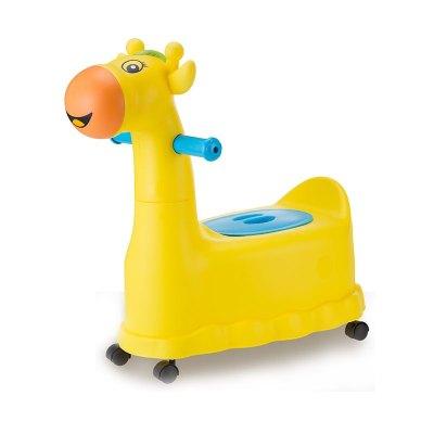 加大號兒童坐便器女寶寶馬桶幼兒1-3-6歲小孩嬰兒智扣抽屜式男便盆尿 小鹿黃色送(刷子加輪子)