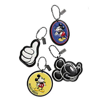 【直營】Disney x Coach 蔻馳 聯名限量版 四件米奇包包掛飾禮盒組 牛皮 箱包配件