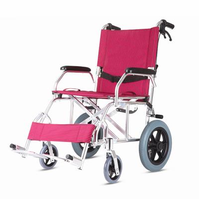 佛山達洋DY863-12鋁合金小輪醫用輪椅輕便可折疊 老人殘疾人輪椅代步車超輕便四手剎車便攜旅行輪椅手推車 家用出行必備
