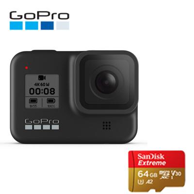 GoPro hero8運動相機水下潛水 4K戶外直播防水攝像機vlog 官方標配+64G卡 hero8 black黑色