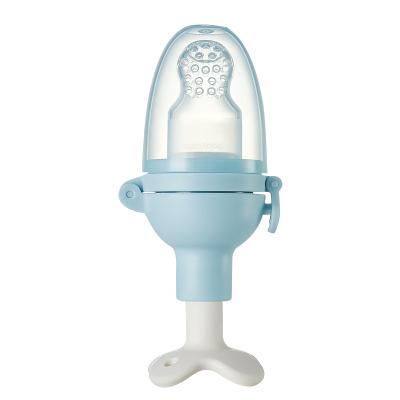 babycare嬰兒食物咬咬袋果蔬樂磨牙棒 寶寶吃水果輔食器硅膠牙膠冰川藍1306