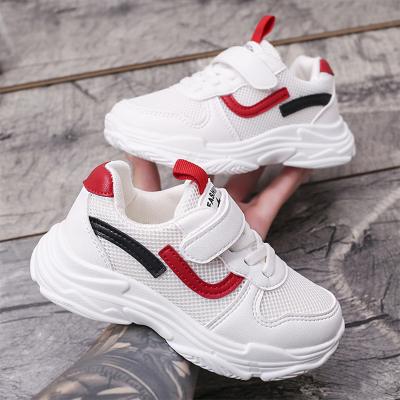 男童運動鞋網面透氣小學生鞋兒童女童小白鞋威珺