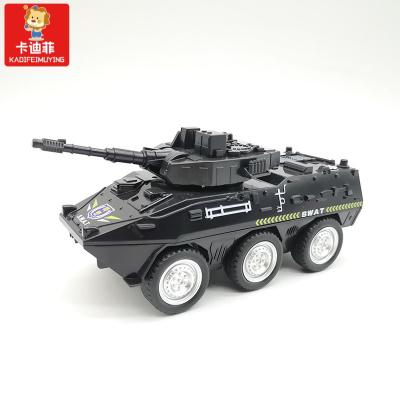 【精品特卖】坦克车儿童玩具男孩履带装甲战车宝宝耐摔导弹越野军事模型 特警坦克车【黑色】 猫太子 猫太子