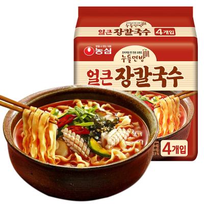 韓國NONG SHIM農心進口韓式刀削面海鮮湯味四連包掛面條