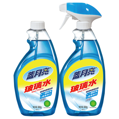 藍月亮玻璃清潔劑 清洗劑 玻璃水500g瓶+500g瓶補