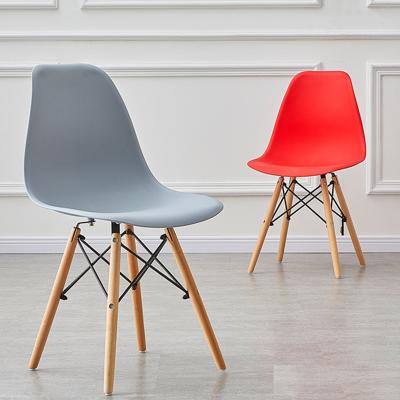 現代簡約餐椅家用化妝靠背凳子阿斯卡利北歐辦公椅子實木書桌椅